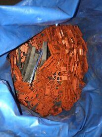 Large bag of plastic packers for builders/carpenters