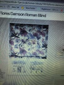 Brand new, packaged Roman Flores Damson Harlequin blind purchased from Blinds to Go