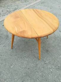 Ercol side table with drop leaf