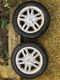 2 Clio mk3 wheels and tyres 15 inch