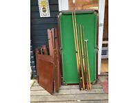 Snooker and/or pool table FREE