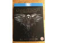 Game of Thrones Blue ray season 4 DVD's
