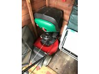 Briggs and Stratton Petrol mower in working order. Large cutter and quite heavy.