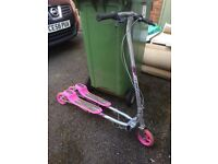 Pink Girls ZIP Scooter good condition