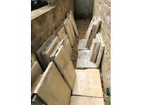 Free Limestone slabs - various sizes.