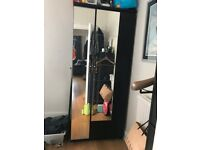 IKEA Wardrobe, 2 doors (one mirrored), BLACK