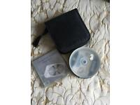 Blank CD's with plastic wallets and zip case
