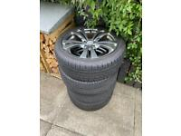 NEARLY BRAND NEW ALLOY WHEELS ON ROAD X TYRES