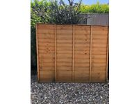 Hand made fence panels