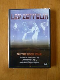 LED ZEPPELIN : ON THE ROCK TRAIL - UK DVD NEW (no music)