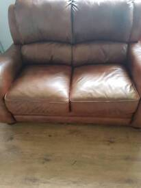 X2 2 seater sofas for sale real leather