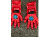 iron man gloves with shooting, light & sound
