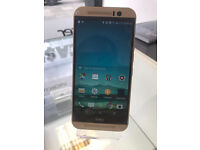 HTC ONE M9 32GB GOLD AS NEW UNLOCKED WITH RECEIPT AND WARRANTY