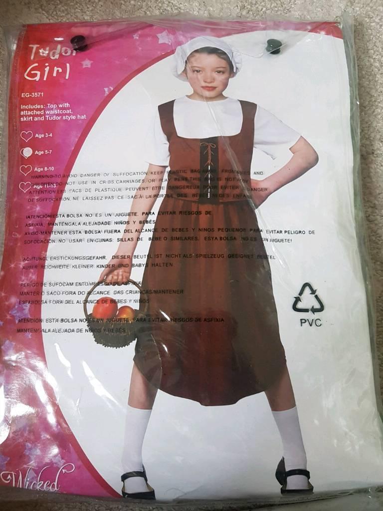 Tudor girl, Victorian girl, fancy dress costume