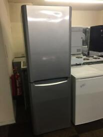 SILVER INDESIT FRIDGE FREEZER GOOD CONDITION