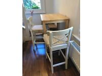 IKEA High Table and two Chairs