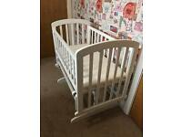 BR Baby Glider Crib Cot White - Excellent Condition
