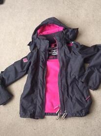Ladies/girl Superdry warm hooded jacket. XS