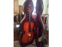 ¾ size cello