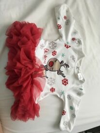 Gorgeous Baby Girls Christmas Dress (upto 1month)
