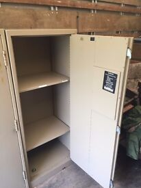 Secure metal cupboard, heavy with triple lock, tools, garden equipment, private things