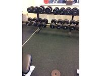 Full set of cast iron dumbells for sale