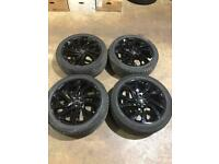 "Set of 20"" genuine Land Rover alloy wheels and tyres Freelander 2 discovery sport evoque"