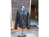 Mens Brown leather 'Superdry' leather jacket - Nearly new in great condition