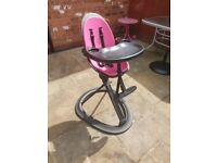 Ickle Bubba High Chair Black and Pink