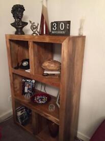 Solid Oak Light Dekota Large Book-case