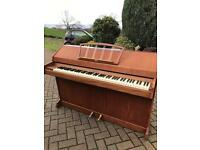 Eavestaff mini upright piano retro 1960