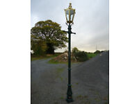 FOR SALE LAMP POST & SOLID BRASS LANTERN (NEW)