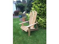 Quarter Sawn Oak Adriondack Chairs