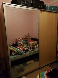 Ikea Pax wardrobe with mirror door