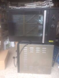 2 x used Buffalo GD278 100Ltr Convenction ovens