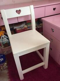 Girls desk, chair and bedside cabinet