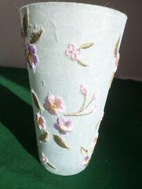 Gisela Graham Decorated Glass Vase