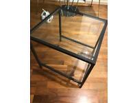 Metal Framed Glass Side Table