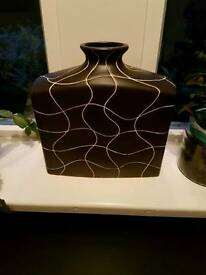 Brown and cream vase