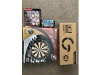 Professional complete dart board set with board, surround and 7sets of dart UNUSED/UNOPENED