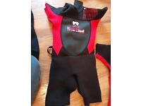 Wetsuit shortie boys 5 -6 years old (size 2)