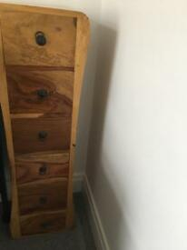 Living/ dining room or hall draws and matching mirror