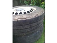 VW T5 steel wheels and tyres
