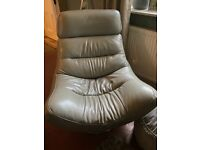 Italian Leather Swivel Chair x 2