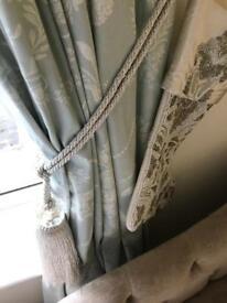 Two Laura Ashley jewelled tasseled curtain tie backs
