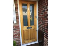 Timber front door with locks hinges etc all in good working order.