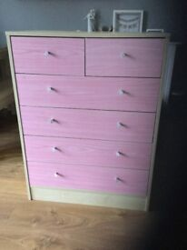 x2 Pink chest of drawers
