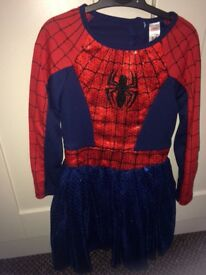 Age 5-6 spider girl dress