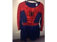 Age 5-6 spider girl dress