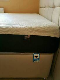 Dormeo octaspring hybrid plus double mattress and Loire headboard and base